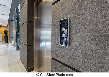 Elevator in business centre