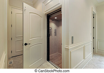 Elevator in new construction home