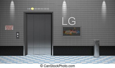 Elevator Lift - Elevator 3d animation, alpha channel...