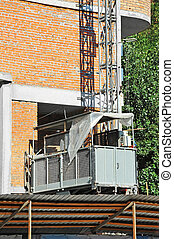 Elevator on construction site