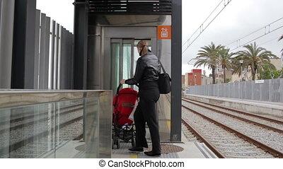 Elevator on the railway station.