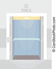Elevator Open Illustration