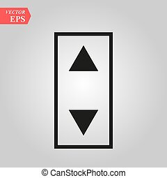 Elevator or lift buttons icon. Simple flat logo of elevator buttons isolated on white background. Vector illustration.