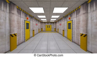 Elevator passage - 3D CG rendering of the elevator passage.