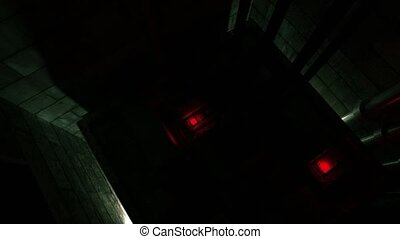 Elevator shaft lift shaft bunker vault safe nuclear machinery