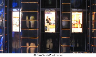 elevatoren, wrakkigheid, tijd