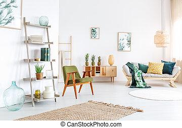 eleven, ananászok, szoba, színes