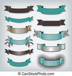 Eleven Banners in Teal with space for your text
