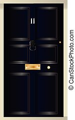 Eleven Downing Street - The front door of number eleven...