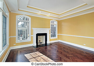 eleven, közfal, szoba, sárga