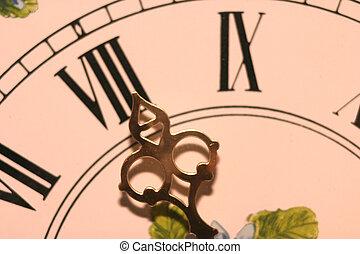 eleven pm - Clock hand at 11