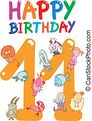 eleventh birthday anniversary design