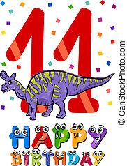 eleventh birthday cartoon design