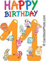 eleventh, conception, anniversaire, anniversaire
