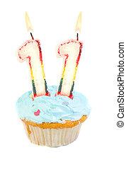 eleventh, cumpleaños, cupcake
