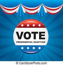 elezione, unito, voto, stati