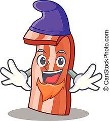Elf bacon character cartoon style