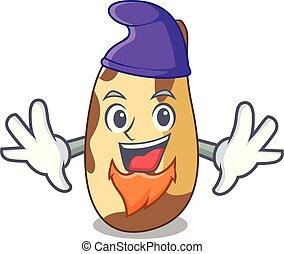 Elf brazil nut character cartoon