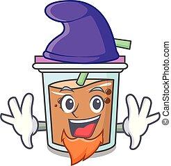 Elf bubble tea character cartoon