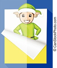 Elf Character Sticker Vector
