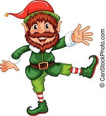 Elf - Illustration of a close up elf