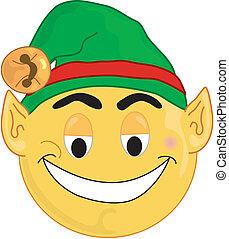 Elf Face - Elf smiley type face