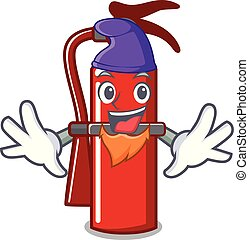 Elf fire extinguisher character cartoon