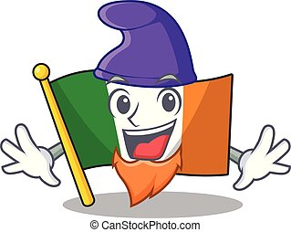 Elf flag ireland isolated with the cartoon vector ...