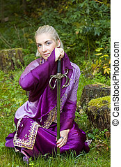 Elf girl with a sword