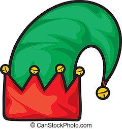 elf, kapelusz, boże narodzenie
