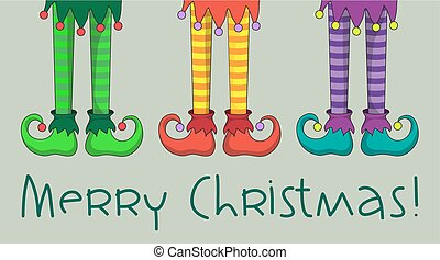 Elf legs - The legs and shoes of Santa's elves