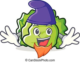 Elf lettuce character cartoon style