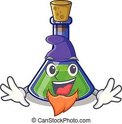 Elf magic potion in a mascot bottle