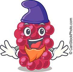 Elf mulberry fruit on a cartoon table vector illustration