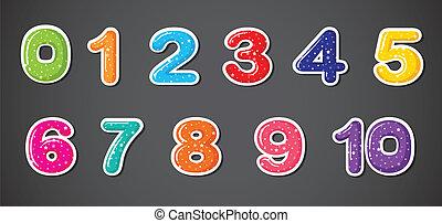 elf, numeriek, figuren