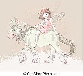 Elf on horse