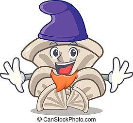 Elf oyster mushroom character cartoon