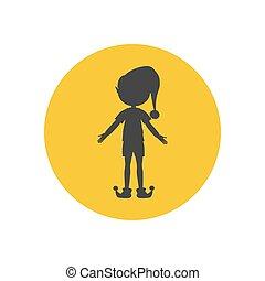 Elf silhouette icon