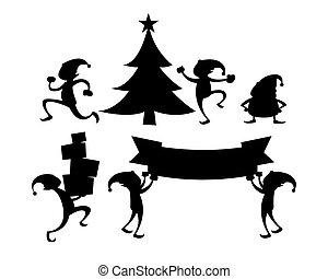 Elf silhouette set