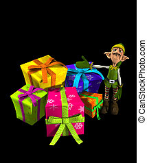 Elf With Lots Of Presents