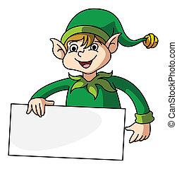 elfe, bannière, tenue