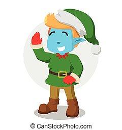 elfe, conception, noël, illustration