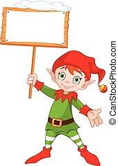 elfe, noël, signe