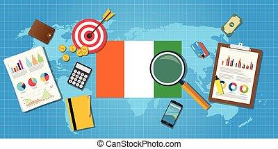 elfenbein, grafik, finanz, land, afrikas, tabelle, abbildung, kueste, vektor, wirtschaftlich, schaubild, werkzeuge, bedingung, wirtschaft