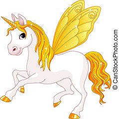 elfje, staart, paarde, gele