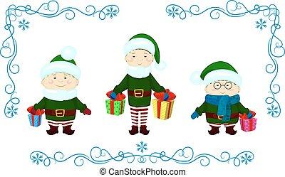 elfs gift christmas