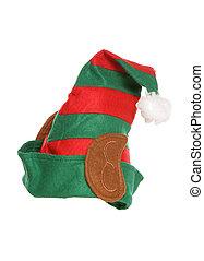 elfs hat on a white background