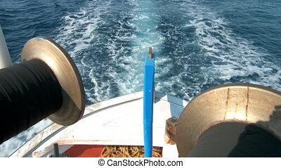 elgáncsol, csónakázik