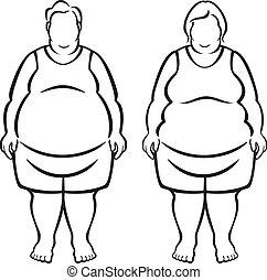 elhízott, morbidly, emberek