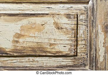 elhagyatott, wooden alkat, háttér